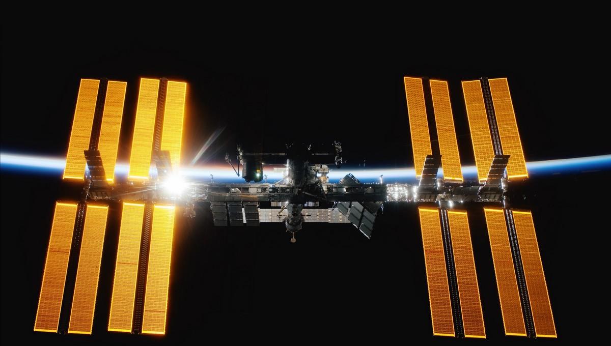 Fotografie Mezinárodní vesmírné stanice ISS.